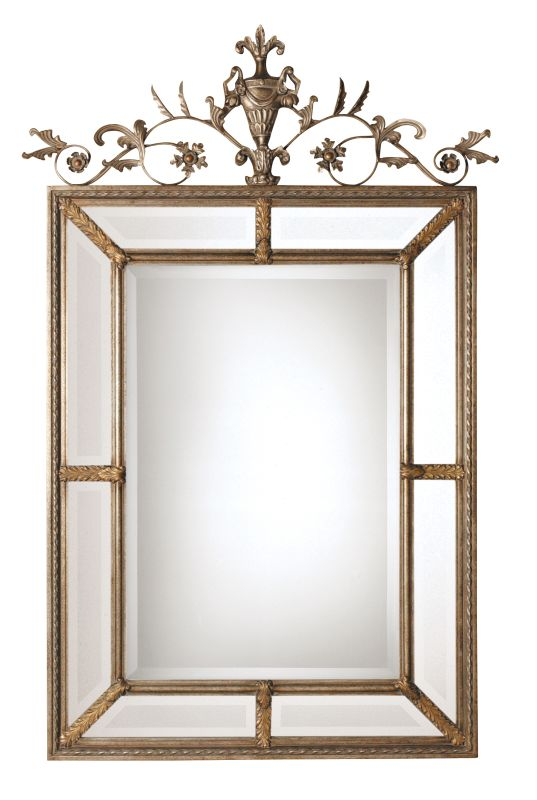Uttermost 11201 B Le Vau Ornate Beveled Mirror Silver And Dark Gray