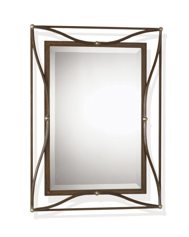 Uttermost 11547 B Thierry Beveled Mirror With Iron Frame Scratched