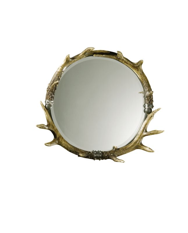 Uttermost 11556 B Stag Horn Rustic Frame Mirror Natural Brown And