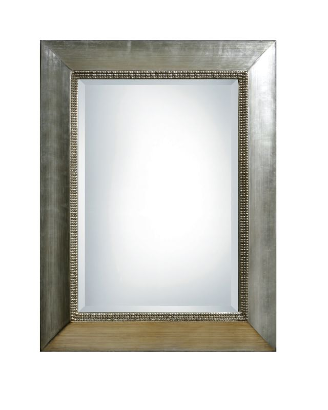 Uttermost 11572 B Fresno Beveled Mirror Antiqued Silver Leaf With