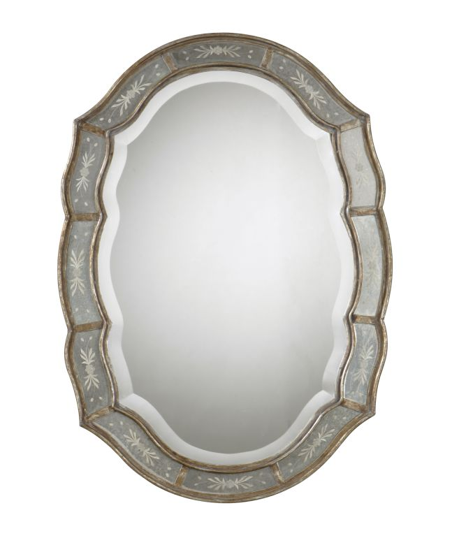 Uttermost 12530 B Fifi Decorative Beveled Mirror With Etched Mirror