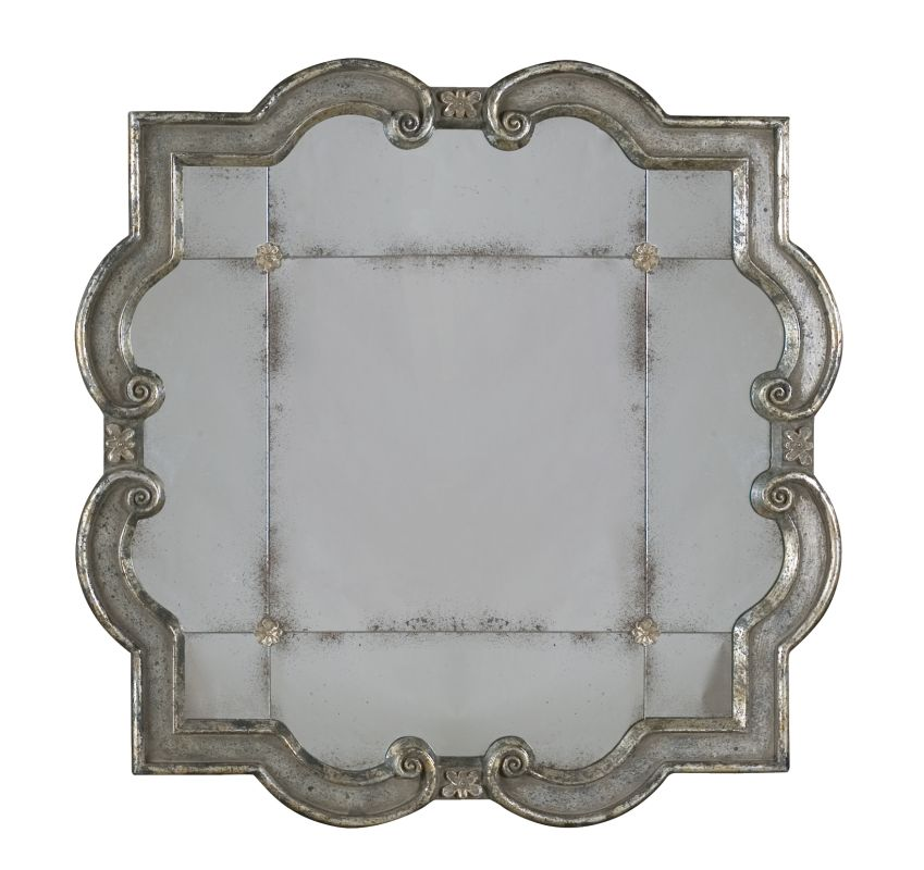 Uttermost 12557 P Prisca Etched Mirror With Ornate Frame Distressed