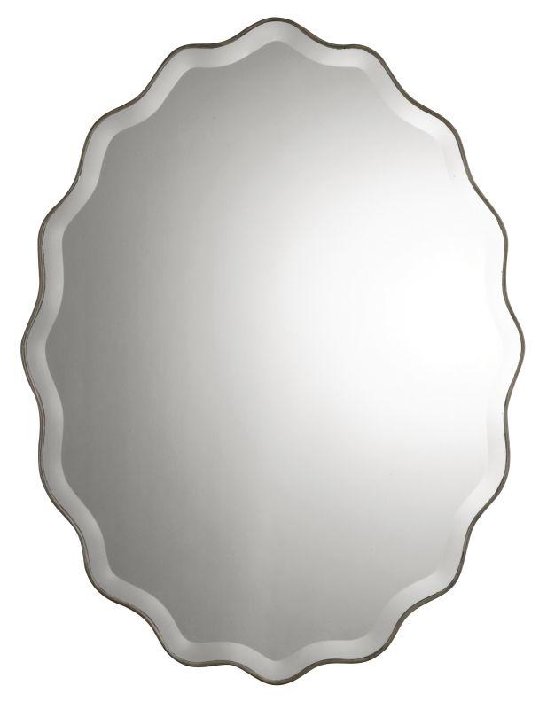 Uttermost 12704 B Teodora Ruffled Edge Frameless Mirror Antiqued