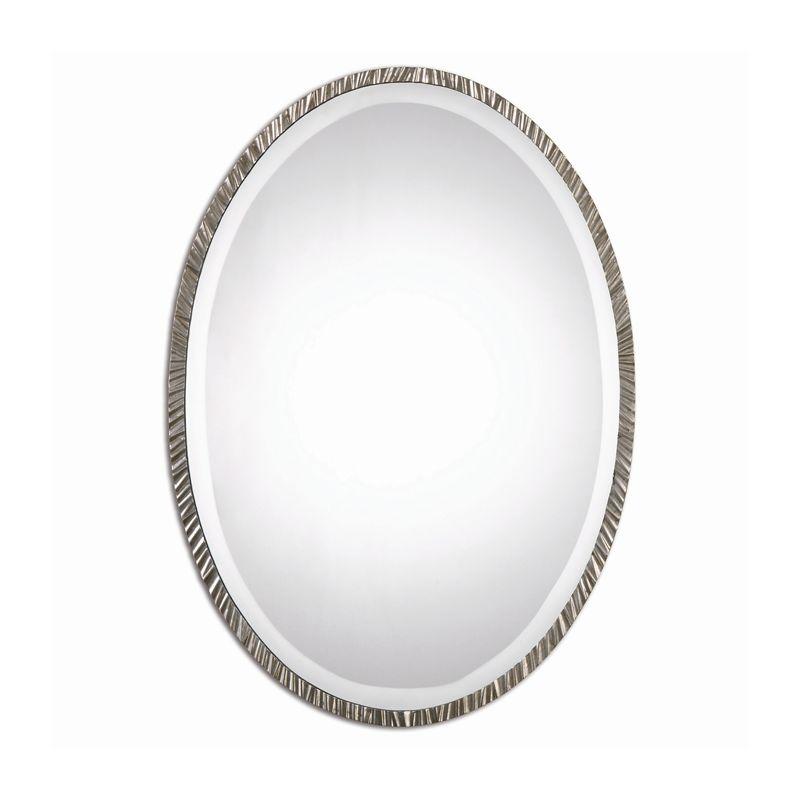 Uttermost 12924 Annadel Oval Beveled Metal Frame Mirror Plated