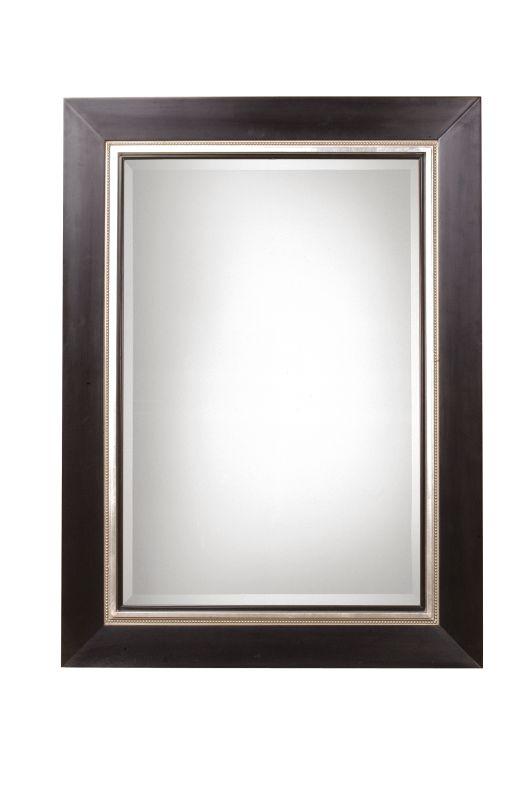 Uttermost 13131 B Whitmore Sleek Solid Wood Framed Mirror Matte Black