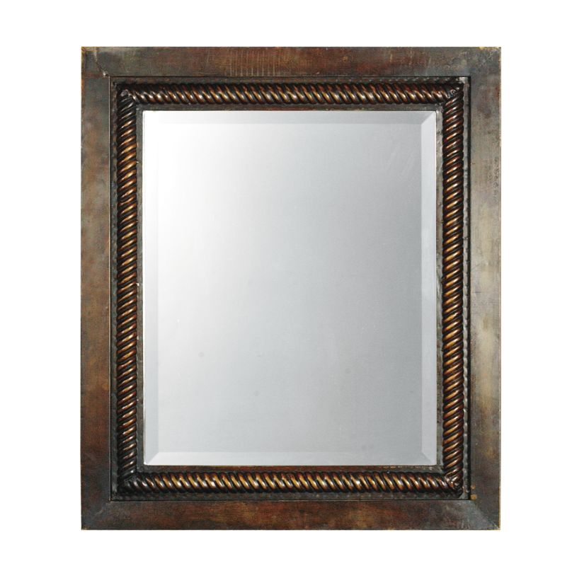 Uttermost 13149 B Tanika Hand Forged Metal Framed Mirror With Rope