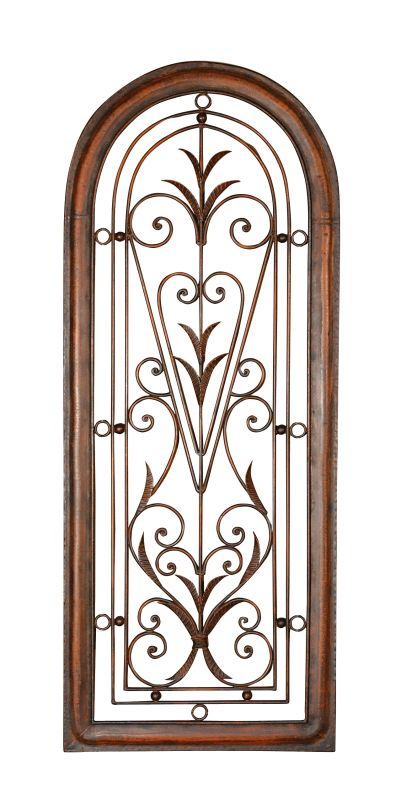 Uttermost 13205 Cristy Petite Arched Scroll And Leaf Wall Art