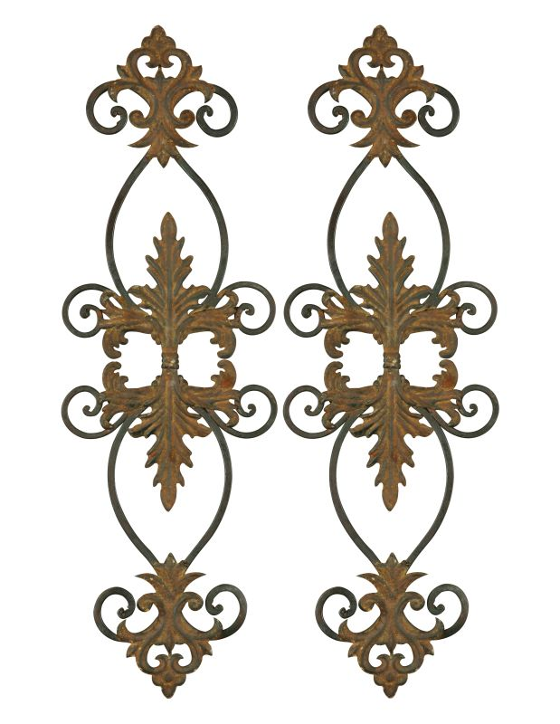 Uttermost 13387 Lacole Set of 2 Leaf And Scroll Metal Wall Art