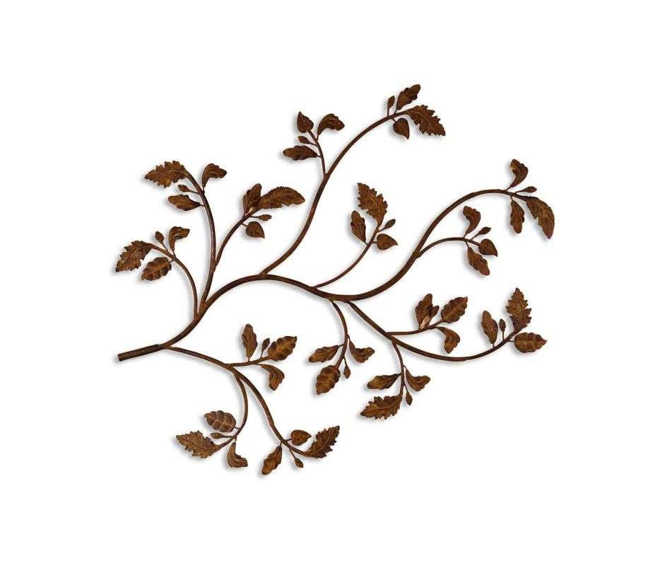 Uttermost 13435 Rusty Branch Plaque from the Billy Moon Collection