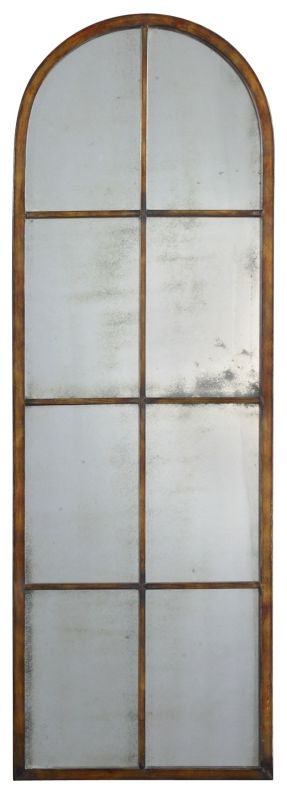 Uttermost 13463 P Amiel Arch Antiqued Mirror Wall Art Maple Brown With
