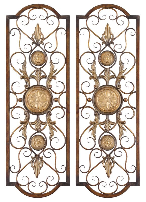 Uttermost 13475 Micayla Set of 2 Medallion Accent Metal Wall Art