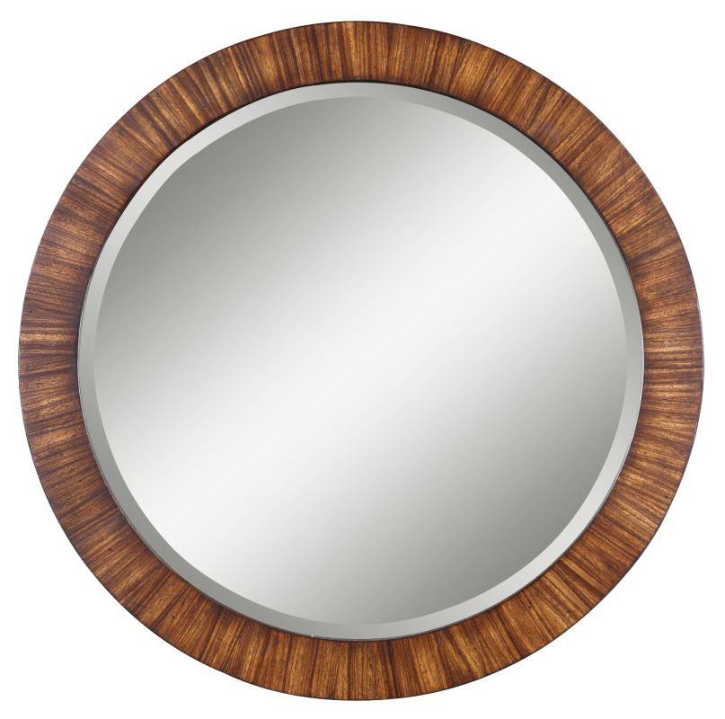 Uttermost 13554 B Jules Beveled Round Mirror With Antiqued Finish