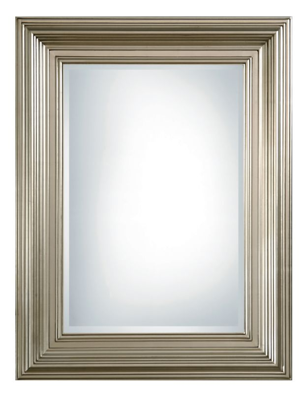 Uttermost 14133 B Mario Beveled Mirror With Silver Leafed Wood Frame