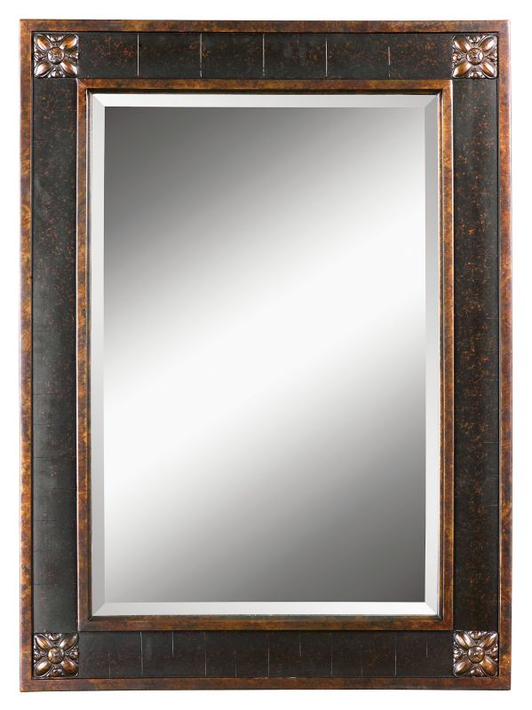 Uttermost 14156 B Bergamo Vanity Mirror With Distressed Finish Frame