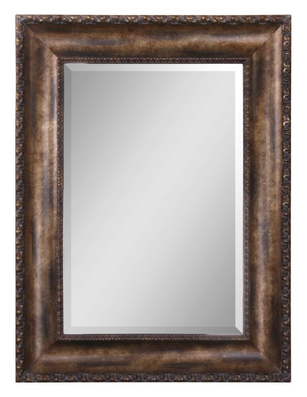 Uttermost 14441 B Leola Beveled Mirror in Wood Frame Antiqued Bronze