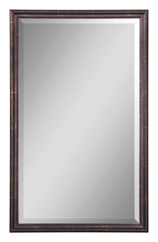 Uttermost 14442 B Renzo Vanity Beveled Mirror with Distressed Bronze