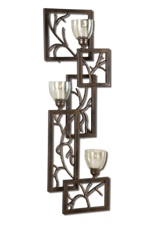 Uttermost 19736 Iron Branches Wall Sconce Candle Holders Antique