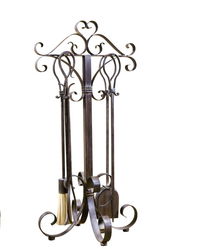 Uttermost 20338 Daymeion Hand Forged Metal Fireplace Tools Set of 5