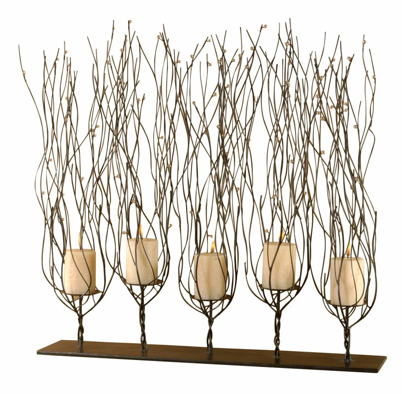 "Uttermost 20605 Fedora ""Trees"" Candleholder with Clear Bead Accents"