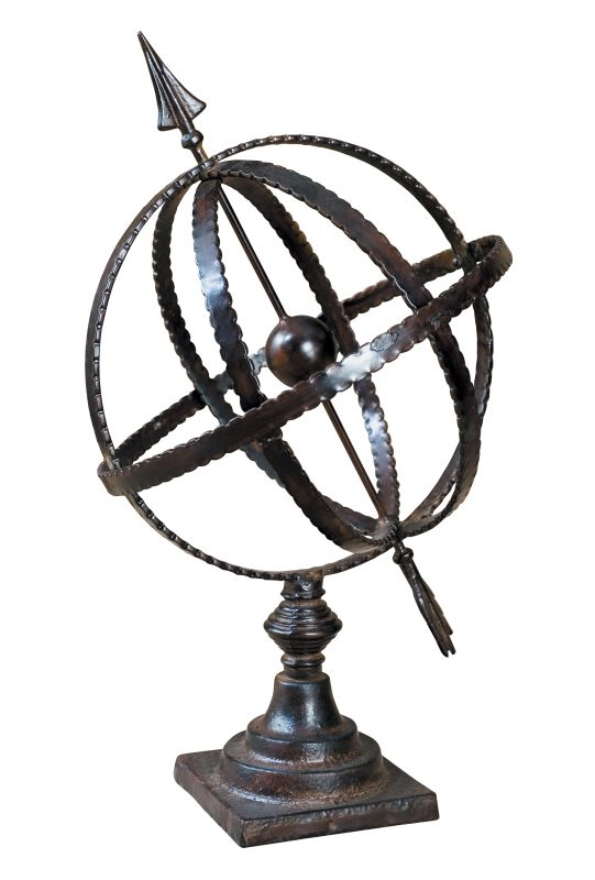 Uttermost 20991 Diez Metal Globe on Stand Antique Brown Home Decor