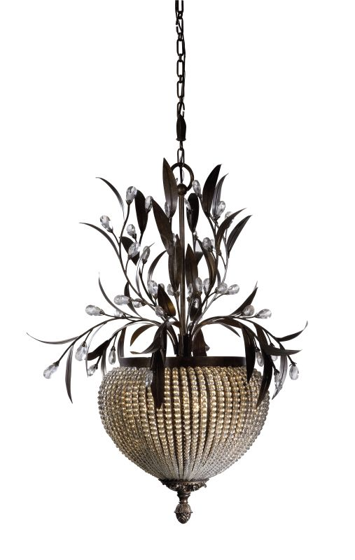 Uttermost 21004 3 Light Chandelier from the Cristal De Lisbon