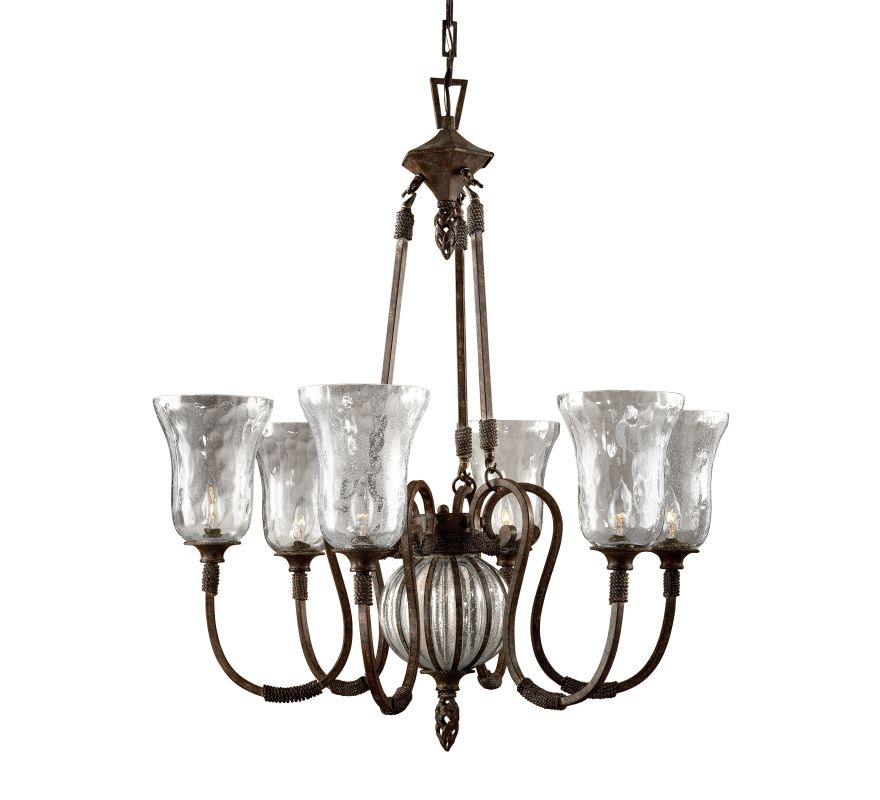 Uttermost 21045 6 Light Single Tier Chandelier fro the Galeana