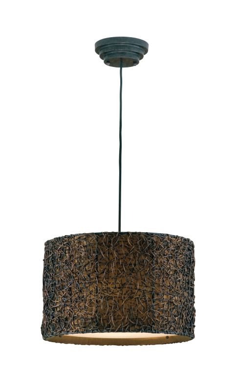 Uttermost 21103 Knotted Rattan 3 Light Hanging Shade Pendant from the