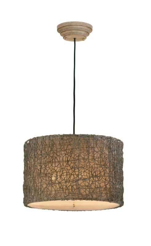 Uttermost 21105 Knotted Rattan 3 Light Hanging Shade Pendant from the