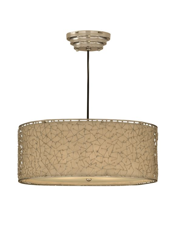 Uttermost 21154 3 Light Hanging Shade Pendant from the Brandon