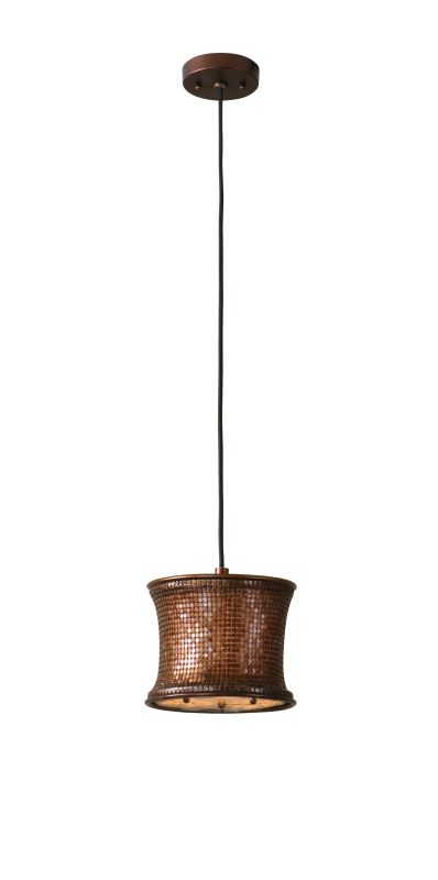 Uttermost 21851 Single Light Copper Metal Mini Pendant from the Marcel
