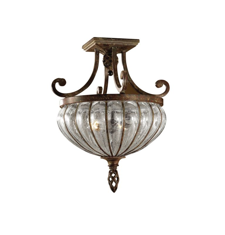 Uttermost 22208 2 Light Semi Flush Ceiling Fixture from the Galeana