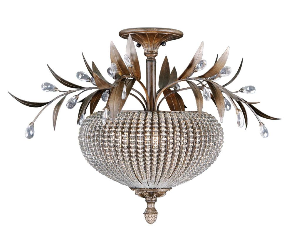 Uttermost 22221 Cristal De Lisbon 3 Light Semi-Flush Ceiling Fixture