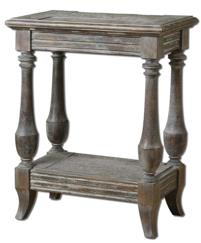 Uttermost 24295 Mardonio Side Table Waxed Limestone Furniture End