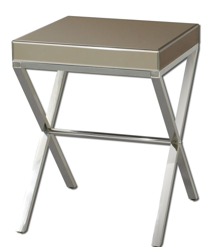 Uttermost 24299 Lexia Side Table Bronze Mirror Furniture End Tables