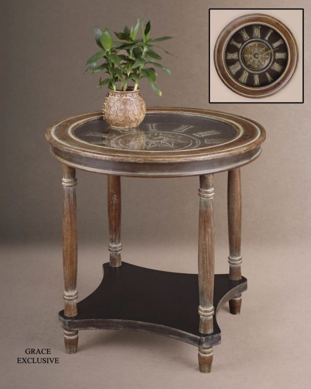 Uttermost 26005 Clock Table with Quartz Movement Clock from the