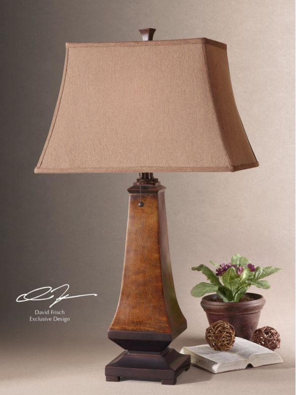 Uttermost 26254 Lamp with Rectangle Bell Shade from the Caldaro