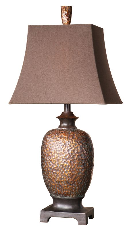 Uttermost 26314 Amarion Table Lamp Distressed Bronze Leaf Dark