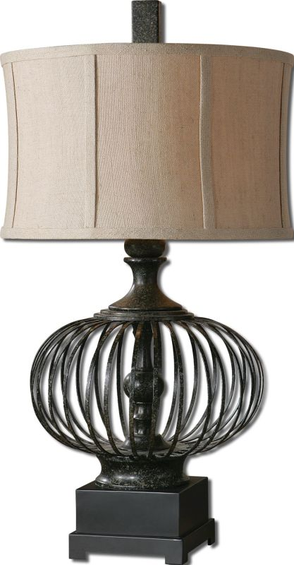 Uttermost 26463-1 Lipioni Table Lamp Rustic Black Lamps