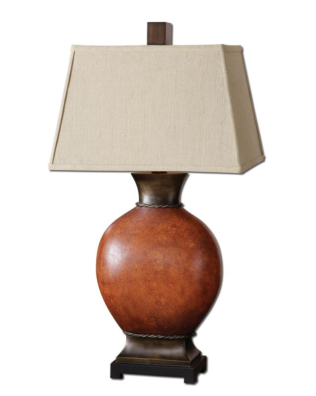 Uttermost 26517 Country / Rustic Single Light Round Ceramic Table Lamp