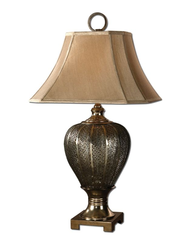 Uttermost 26521 Single Light Cage Metalwork Table Lamp from the