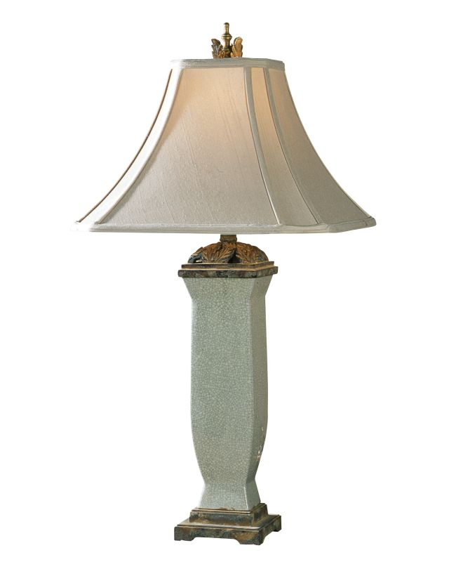 Uttermost 26625 Reynosa Table Lamp Light Blue Gray Wash Lamps
