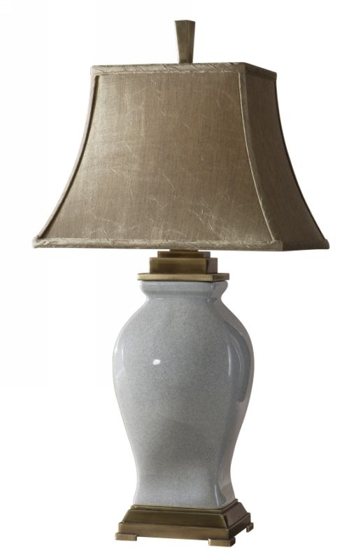 Uttermost 26736 Rory Blue Table Lamp Rory Blue with Bronzed Metal