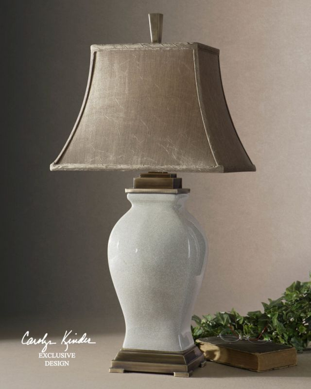 Uttermost 26737 Porcelain Table Lamp from the Rory Ivory Collection