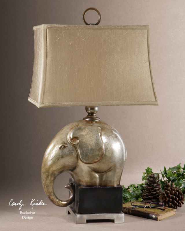 Uttermost 26739-1 Elephant Lamp from the Abayomi Collection Antique