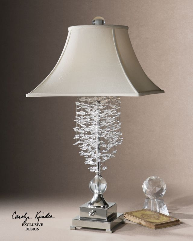 Uttermost 26894 Cascading Crystal Accented Lamp from the Fascination