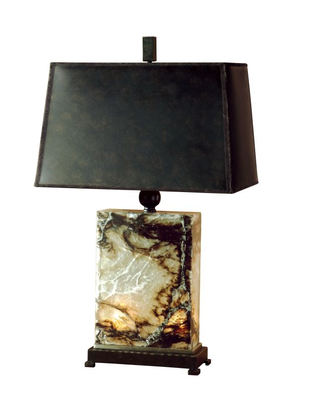 Uttermost 26901 Marius Table Lamp Black Brown And Ivory Marble With