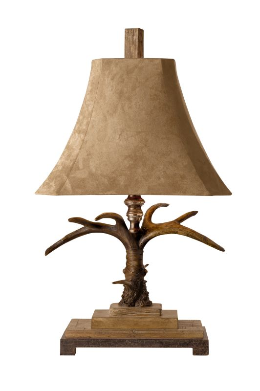 Uttermost 27208 Stag Horn Table Lamp Natural Brown And Ivory Toned