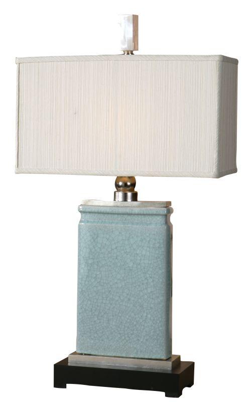 Uttermost 27752-1 Azure Table Lamp Light Blue Crackled Porcelain With