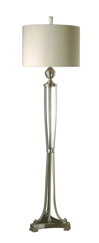 Uttermost 28523-1 Tristana Floor Lamp Brushed Nickel Metal Finish