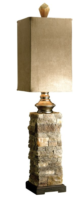 Uttermost 29093-1 Andean Buffet Lamp Ivory And Brown With Cast